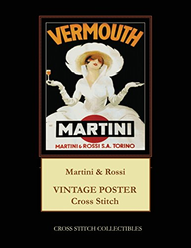 Martini & Rossi: Vintage Poster Cross Stitch Pattern