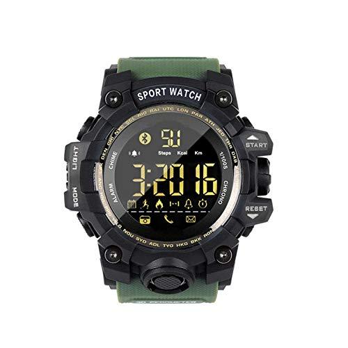 NUELLO Salud Y Estado Físico Rastreador De Ejercicios,IP68 Impermeable Bluetooth 4.0 Podómetro Rastreador De Actividad Pulsera Deportiva Smartwatch para Hombre-Verde