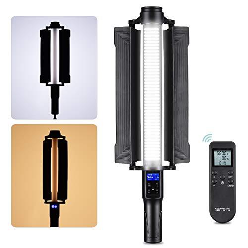 LIPPMANN LS-550 Bicolor LED Regulable Video Stick Light Luz Continua 3200K / 5600K CRI 97+ Potencia Máxima 18W con Control Rremoto para Transmisión de Video en Vivo Grabación de Retratos Naturaleza