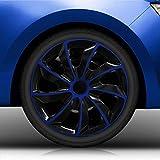 Autoteppich Stylers 15 Zoll Radkappen/Radzierblenden 002 Bicolor 15' (Schwarz-Blau) passend für Fast alle Fahrzeugtypen – universal
