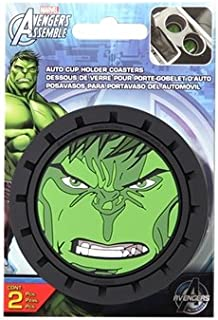 Marvel Hulks Heavy Duty Rubber Auto Cup Coaster 2 pc