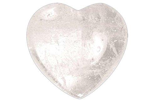 Herz BERGKRISTALL Stein 4 cm