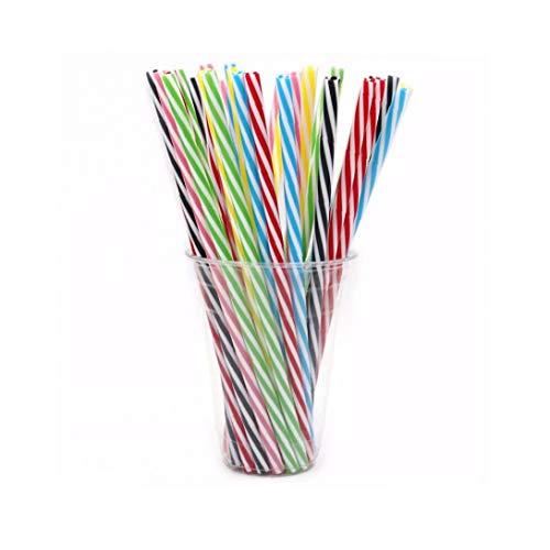 10pcs 23cm Cannuccia Riutilizzabili Plastica Spessa Cannucce Per Mason Jar Tumbler Famiglia O Del Partito Usa