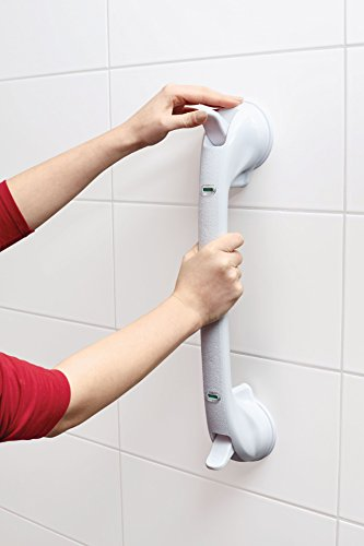 TronicXL XXL Premium Badezimmergriff ohne Bohren mit Saugnapf Vakuum Griff für Badewannen Dusche WC 50cm Haltestange Montage Duschgriff Badezimmer Griffstange Handgriff Haltegriff Senioren Handlauf