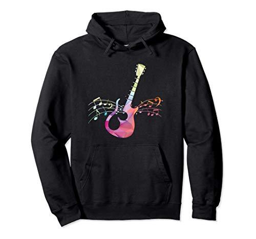 Bunte Gitarre Gitarrist Guitarre Akkord Noten Musik Geschenk Pullover Hoodie