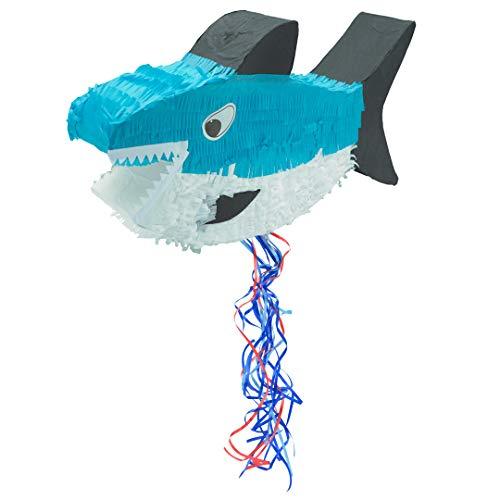 Trendario Pinata Hai, Ideal zum Befüllen mit Süßigkeiten und Geschenken - Piñata für Kindergeburtstag Spiel, Geschenkidee, Party, Hochzeit