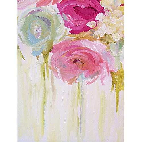 yiyiyaya Arte Flor Acuarela Arte Pintura al óleo Abstractos Carteles e Impresiones Lienzo Pintura Cuadros Decoración 60x80cm