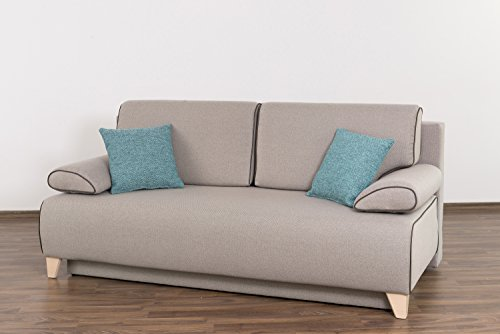 Möbel für Dich Schlafsofa Bettsofa Florida mit extrabreiter XXL Liegefläche von 160x200 cm bezogen mit Webstoff INARI mit Farbauswahl