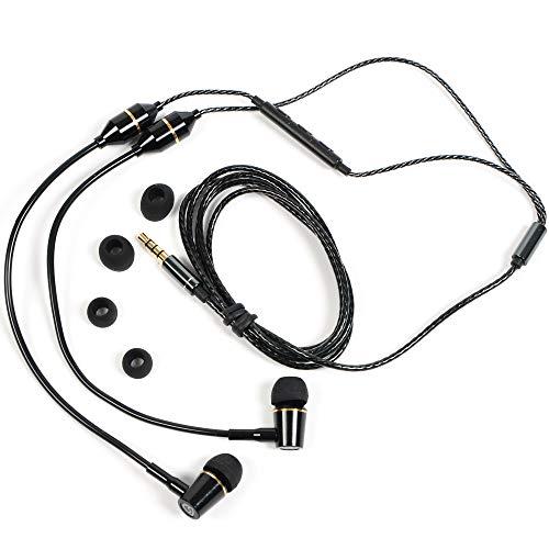 SYB Air Tube Stereo Headset (Black, in-Ear)