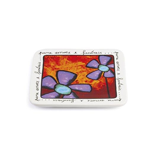 Egan paf25q/S salvamanteles, Porcelana, Rojo