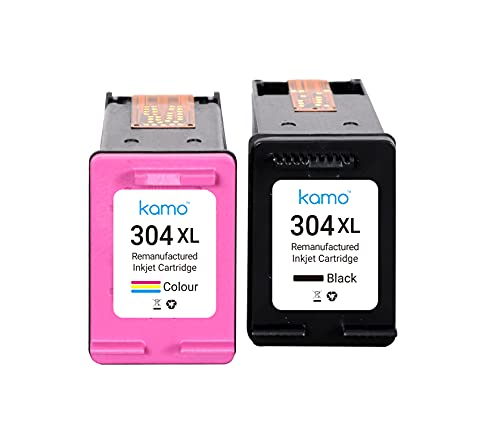 Kamo 304 XL Multipack Compatibile con HP 304 304XL Cartucce, per AMP 130, Deskjet 2622 2630 2632 2633 2634 3720 3730 3733 3735 3750 3760 3762 3764, Envy 5010 5020 5030 5032 5050