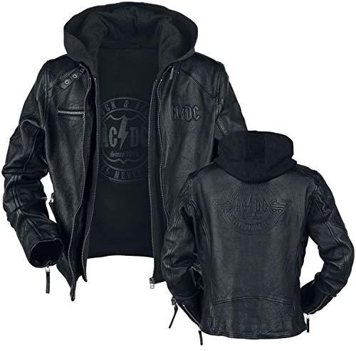 AC/DC Rock & Roll - Will Never Die Hombre Chaqueta de Cuero Negro XL, 100% cuero, Regular