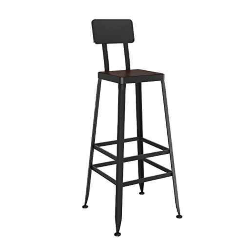 Dongy barkruk, massief hout Europese smeedijzeren staaf moderne minimalistische stoel hoge kruk (hoogte 45CM-85CM) (Maat: 40cm*65cm)