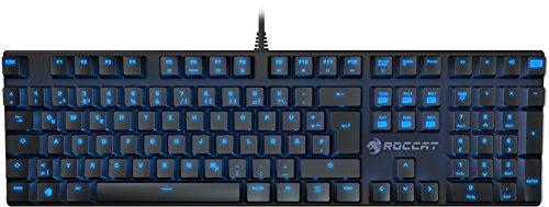 Roccat Suora Mechanische Tactile Gaming Tastatur (FR-Layout, Mechanische Tasten, rahmenlos, Indirekte Tastenbeleuchtung)
