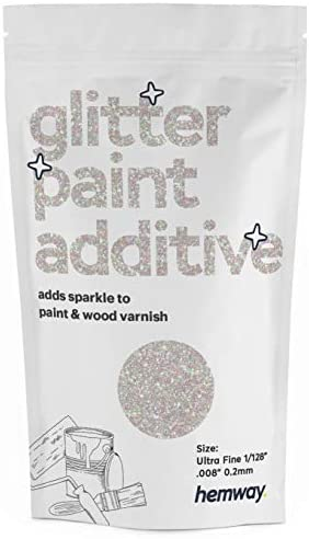 Hemway Glitter Paint Additive Ultrafine 1 128 008 0 2MM Emulsion Acrylic Water Based Paints product image