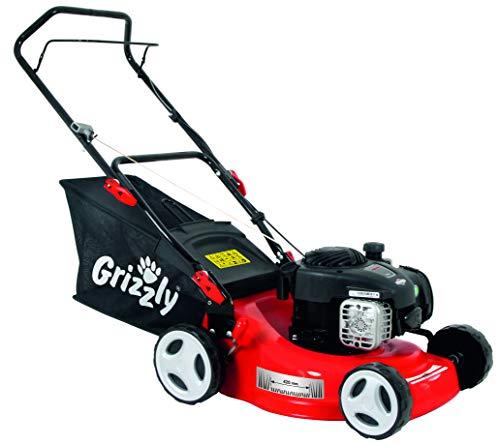 Grizzly Benzin Rasenmäher BRM 42 125 BS - Briggs & Stratton Motor 300 E Series - (42cm Schnittbreite, 5-Fach zentrale Höhenverstellung)