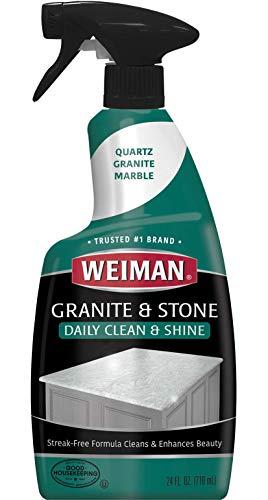 Weiman Granite Cleaner For Granite Marble Soapstone Quartz Quartzite Slate Limestone Corian Laminate Tile Countertop and More, 24 FL Oz