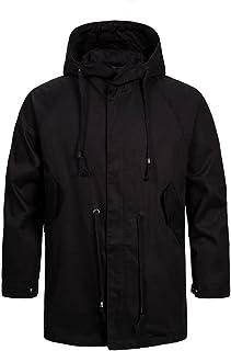 Men's Casual Slim Fit Coats Full-Zip Hooded Windbreakers Work Outerwear Jackets