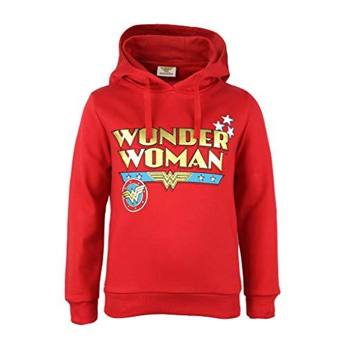 DC Comics Wonder Woman Classic Text Logo Sudadera con Capucha Chicas| mercancía Oficial