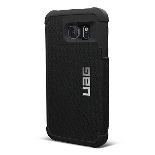 Urban Armor Gear Schutzhüllen Folio nach US-Militärstandard für Samsung Galaxy S6 - schwarz [Verstärkte Ecken   Sturzfest   Antistatisch   Vergrößerte Tasten] - UAG-GLXS6F-BLK-VP