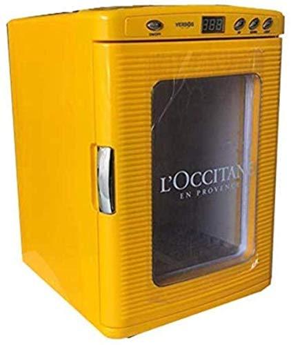 Mini nevera 25L de calentamiento y enfriamiento de la temperatura constante taquilla compartida mini refrigerador Medicina Incubadora, más frío y, Amarillo 1yess (Color : Yellow)