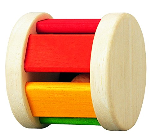 PlanToys Wooden Rainbow Baby Roller with Sound (5220)