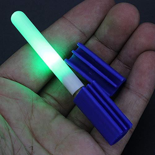 Yzki - Varillas Luminosas de Pesca, Mini Varillas Luminosas para caña de Pescar, Verde, Tamaño Libre