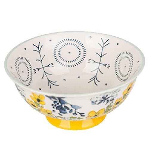 1yess Cereales Cuencos, 4.5 Pulgadas / 6 Pulgadas Porcelana Soup Bowl Conjunto, for el arroz, postres, desayunos, Sopas (Color: 4PCS, Tamaño: 11,4 cm / 4.5inch)