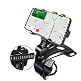Car Phone Mount 360 Degree Rotation Universal Car Dashboard Phone Holder, Multi-use Spring Clip Car Phone Holder Compatible with iPhone, Samsung, Android 4 to 7 inch All Mobile Phones