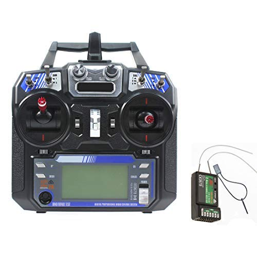 Flysky FS-i6 6CH AFHDS 2A Trasmettitore Schermo LCD + Ricevitore iA6 modalità 2/1 Radio Telecomando per RC Heli Glider Quadcopter MultiRotor (Mode 2)