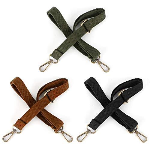 Jubaopen 3PCS Bag Strap Replacement Adjustable Bag Strap Wide Shoulder Strap for All Shoulder Bags Handbags(130cm, 3Colors)