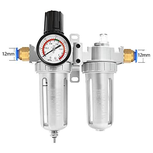 HYY-YY Filtro AFC2000 para aceite de compresor Separador de agua Regulador Filtro de trampa Airbrush Regulador de presión de aire Válvula reductora (Color : Upgrade AFC2000 12mm)