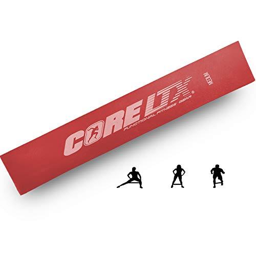 CoreLTX Banda de fitness – Bandas de entrenamiento profesionales individualmente o en juego con bolsa (I – Rojo (el medio)
