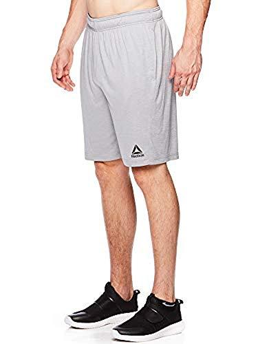 Reebok Men's Lightweight Workout Gym & Running Shorts w/Elastic Drawstring Waistband & Pockets