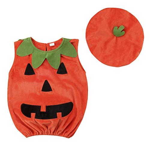 BESTOYARD Halloween pompoen kostuum pak Outfit aankleden kleding met hoed voor baby foto Booth Prop