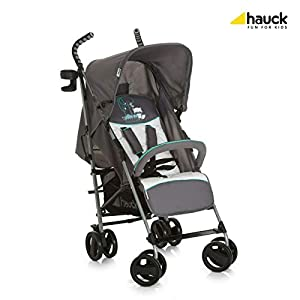 New Hauck Speed Plus Umbrella Compact Folding Grey Pushchair Buggy Pram+Raincover in Forest Fun   1