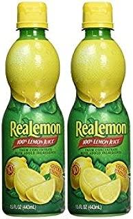 Realemon 100% Lemon Juice 15 OZ (2 Pack)