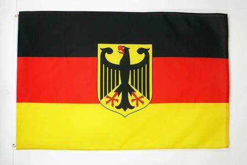 Deutschland Flagge mit Adlerösen, 150 x 90 cm