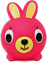Jabber Ball Sankyo Toys Squeeze and Play Sound Ball - Neon Pink Bunny