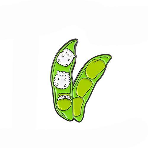 Erizo bebé Guisante Pin Personalizado broches de la Mochila Ropa de la Solapa Pin Insignia Creativa Planta joyería Regalo para los niños Amigo