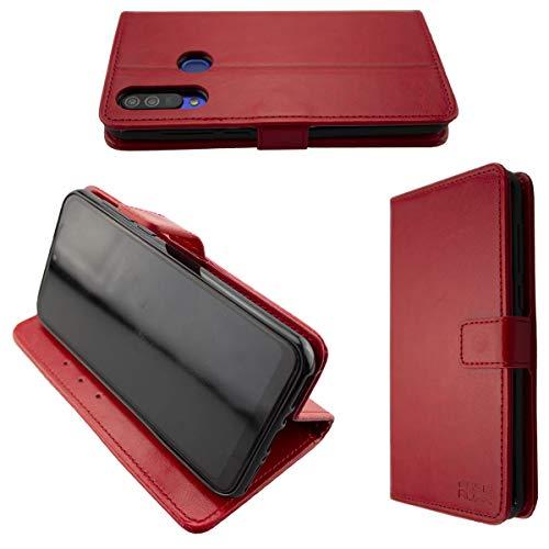 caseroxx Handy Hülle Tasche kompatibel mit Beafon M6 Bookstyle-Hülle Wallet Hülle in rot