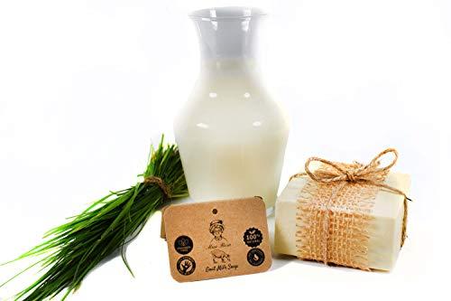 savon lait de chèvre naturel | rafermi | onctueux| peau sensible | acné | taches | eczema |point noir soins pour le visage et corps (Lait de chèvre)