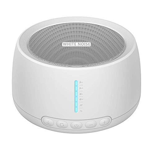 Máquina de terapia de sonido NOUDOO Máquina de sonido de ruido blanco con conector de auriculares, 18 Sonidos Naturaleza 3 ajustes de temporizador, Ayuda a Relajarse y a Dormir para Bebé y Adulto