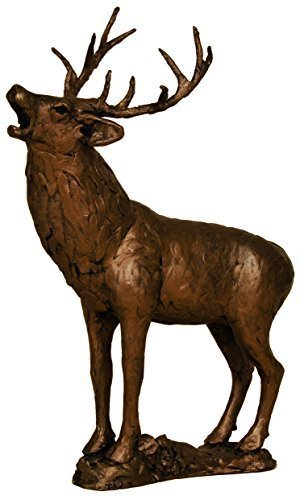New Model! Cold Cast Bronze Red Stag Roaring Rutting Deer ornament or sculpture from Frith by Thomas Meadows by Frith