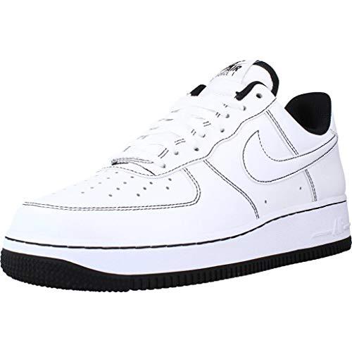 Nike Air Force 1 '07, Scarpe da Basket Uomo, White/White-Black, 44.5 EU