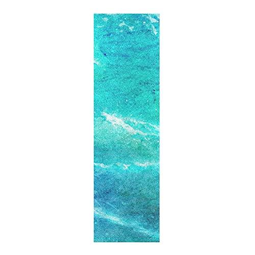 Mármol De Agua De Mar Azul Papel de Lija para monopatín Antideslizante Skateboard Grip Tape Hojia Cinta de Agarre Lijas 84x23cm para Longboard Scooter