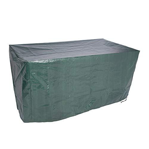 EUGAD Gartenmöbel Schutzhülle Abdeckhaube für Sitzgruppe Gartentisch Gewebeplane Plane Hülle Rechteck 193x136x88cm Grün 0033FCZ