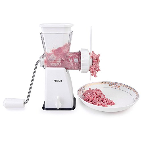 Meat Grinder - ALISKID Hand Crank Manual Meat Grinder Mincer with Powerful Suction Base