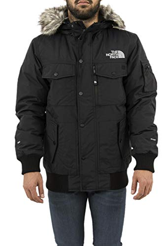 The North Face M Gotham Chaqueta De Plumón, Hombre, Negro/Gris (TNF Black/High Rise Grey), XS