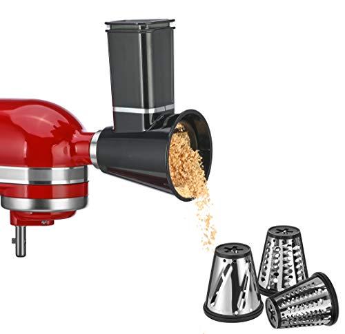 Slicer/Shredder Attachments for KitchenAid Stand Mixer,Cheese Grater Attachment, Fresh Prep Attachment,Vegetable Slicer Attachment Accessories for KitchenAid with 3 Blades